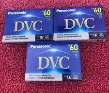 Panasonic Mini Digital Video Tapes DVC SP60 LP90 Min AU-DVM60EJ New (Lot Of 3)