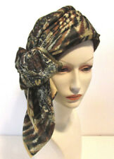Womens Chemo Turban Animal Print 100% Wool Dress Church Warm Winter Hat