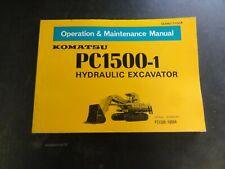 Komatsu PC1500-1 Hydraulic Excavator Operation & Maintenance Manual