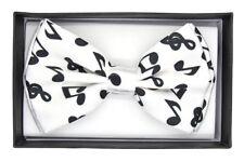 New White Music Note Bow Tie BowTie Ties Tuxedo  US SELLER