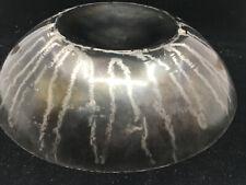 "Michael Aram Steel Vintage Rare 1992 Bowl Africana Round 15"" Inverted Dark"