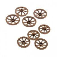 8 x Lego System Wagenrad  Set Rad gross braun 4x 33 mm D. und Räder klein 4x 27