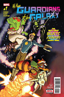 ALL NEW GUARDIANS OF GALAXY #1 AARON CUDLER COVER STAR LORD GROOT MARVEL COMICS