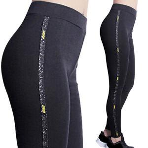 Leggings Femmes Paillettes Collants Sport Fitness Pantalon Stretch Leggings