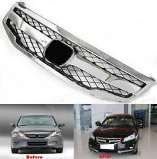 For Honda Accord 2011 2012 ABS Sport Model Front Center Vent Bumper Grille Mesh