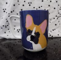 Boxer Dog Coffee Tea Mug Blue Bone White China Portobello by Design England New