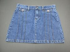 Tommy Women's Size 3 Blue Mini 100%Cotton Fly Zip Pockets Denim Skirt 447