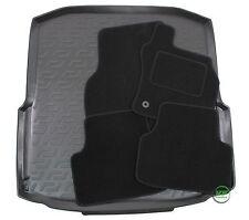 SKODA OCTAVIA mk3 ESTATE 2013-up Tailored black floor car mats + boot tray mat