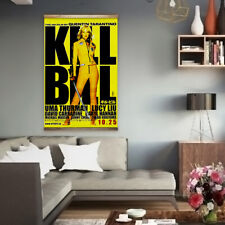Huge 90cm x 140cm Kill Bill Heavyweight Canvas Movie Poster Vintage Retro Film