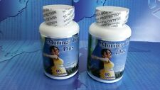 2 Moringa Triple Plus 60 caps 1000mg 100% Organic, linaza, feminelle, bacticure