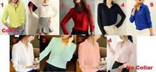 Collared Chiffon Tops & Blouses for Women
