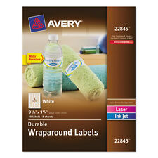 """Avery Durable Wraparound Printer Labels, 9 3/4 X 1 1/4, White, 40/pack"""