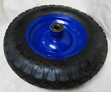 "16"" Wheelbarrow  Wheel Tyre Pneumatic 4.80-4.00-8, 25mm X Long Bearing H D Tyre"