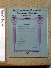 POST OFFICE ELECTRICAL ENGINEERS' JOURNAL * OCTOBER 1944 * WORLD WAR II *