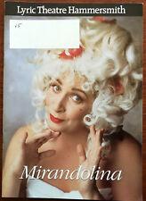 Mirandolina by Carlo Goldini, Lyric Theatre Programme 1994
