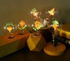 Edison Bulb E27 Flower Filament Indoor Lamp 220V Incandescent Home Decor Retro