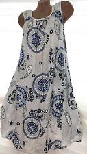 Damen Sommerkleid 42-44-46 Jeki (Weiß) Strand Kleid Tunika Hängerchen