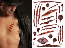 UK Halloween Scars Tattoos, Cat Scratches, Wounds, FakeBlood, Realistic Tattoos