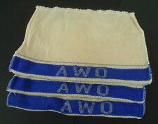 """3 Putzlappen - """" AWO """" - mit Einwebung der Motorradmarke - für Bordwerkzeug"""