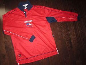 vintage CHILE 2000-02 home shirt long sleeve Umbro L camiseta maillot trikot
