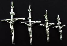 STERLING SILVER CROSS CRUCIFIX PENDANTS HOLY JESUS ROSARY CHRISTENING GIFT BOX