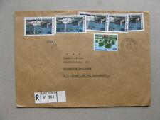 IVORY COAST, R-cover to the Netherlands 1983 ao Waldsavanne