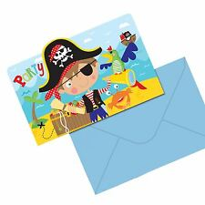 8 Little Pirate Invitations Postcards Birthday Party Invites Treasure Map Island