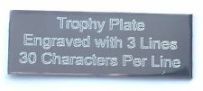 Personalised Engraved Silver Trophy Presentation Plate 50mm x 16mm