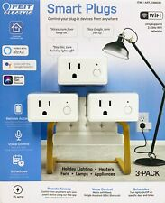 Feit Electric Wifi Smart Plug 3 Pack Works With Alexa, Siri & Google Home NEW