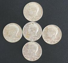 1966 Kennedy Half Dollar Lot of 5 AU .40 Silver Coins