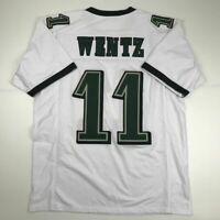 New CARSON WENTZ Philadelphia White Custom Stitched Football Jersey Size Mens XL