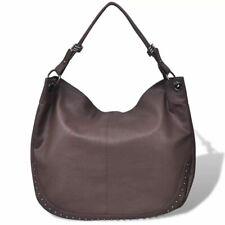 Dark Brown Large Purse Lady Women Artificial Leather Handbag Shoulder Bag