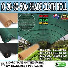 Shade Cloth Roll Standstone Black Green UV  50% Shade Block Plant Farm Fencing