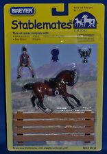 Breyer~Junior Rider and English Saddle Set~Bay Warmblood~Stablemate~Sm~NIB