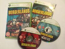 Xbox 360 Boderlands 1 I + doppeltes Spiel ADD ON ZOMBIE ISLAND & Mad MOXI Underdome