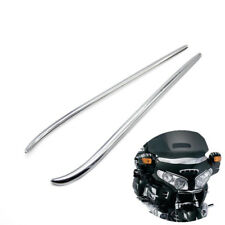 Motorcycle ABS Chrome Fairing Eyebrows Trim For Honda GoldWing GL1800 2001-2010
