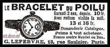 Publicité MONTRE BRACELET DU  POLIU MILITATRIA WWI Guerre 14-18  ad 1914