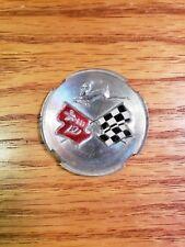 Chevy Impala Vintage Emblem (Rear Speaker?) Cross Flag Emblem - used