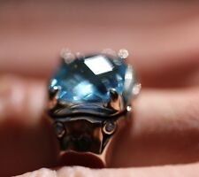John Hardy Sterling Silver Blue Topaz Ring, Size 7, NWT MSRP $595