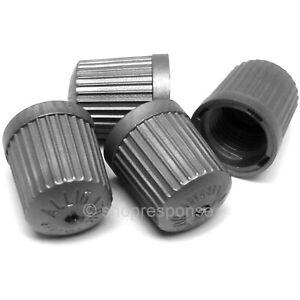 OEM Honda / Acura Tire Air Valve Stem Caps x4 Silver 42757-S3V-C01 GERMANY