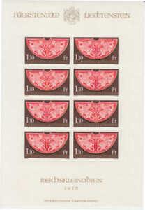 Liechtenstein - Michel-Nr. 634 postfrisch/** als Kleinbogen (Mini-sheet / MNH)
