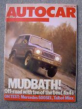 Autocar (6 Feb 1985) Treser Quattro, Mercedes 500SEL road test, G Wagen, Jeep