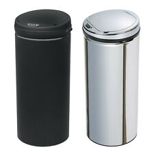 Kitchen Stainless Steel Silver Black Round Sensor Bin Waste Dust Bin 42L / 50L