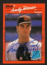 Andy Benes--Autographed 1990 Donruss Baseball Card--San Diego Padres