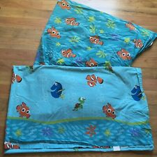 Finding Nemo FULL SIZE SHEETS Fitted & Flat WALT DISNEY Orange Fish Turtle
