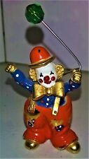 "1997 Spoontiques pewter Clown with glass balloon - #C/M 469 - 2"" tall - 5 oz."