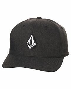 VOLCOM FULL STONE XFIT HAT HEATHER NEW FLEXFIT CAP FREE POSTAGE SKATE SHOP AUST