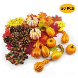 50X Halloween Thanksgiving Autumn Fake Vegetable Artificial Pumpkin Home Decor