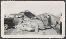 Vintage Car Photo Unusual 1942 Chrysler Automobile Wreck 773818