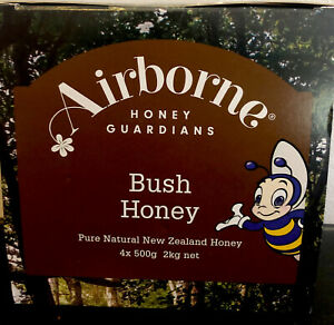 NZ honey Bush Honey - 4 X 500g(2Kg) -pure Honey - Creamed Honey - 100% Honey